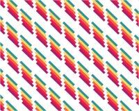 Geometrische abstrakte Hintergrundfarbe, die Linien auf weißem Hintergrund wiederholt vektor abbildung