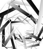 Geometrische abstrakte Kunst Nervöse, eckige raue Beschaffenheit Monochrom, Stockfoto