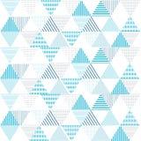 Geometrische abstrakte Linie Blau des Dreieckmuster-Hintergrundes Lizenzfreie Stockfotografie