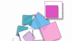 Geometrische Abstraktion mit Quadraten für Mitteilungen stock video