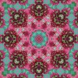 Geometrische acht mit Blumenstrahlen des Rosas und des Grüns spielen nahtloses Muster die Hauptrolle Stockbilder