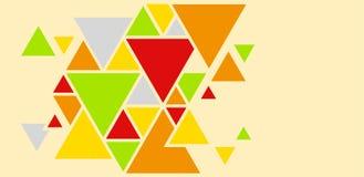 Geometrische achtergrond van driehoeken, heldere gekleurde vormen stock illustratie