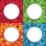 Geometrische achtergronden Royalty-vrije Stock Afbeeldingen
