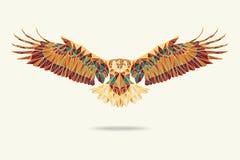 Geometrische adelaars abstracte kleuren Royalty-vrije Stock Fotografie