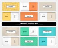 Geometrische Adreskaartjes 001 Royalty-vrije Stock Foto