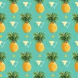 Geometrische Ananasachtergrond royalty-vrije illustratie