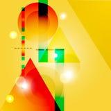 Geometrische artistieke achtergrond Royalty-vrije Stock Afbeelding