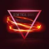 Geometrische banners met neonlichten Royalty-vrije Stock Fotografie