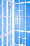 Geometrische Blauwe abstracte achtergrond Stock Foto's