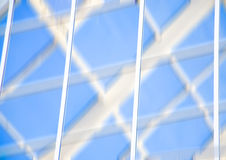 Geometrische Blauwe abstracte achtergrond Royalty-vrije Stock Fotografie