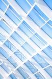 Geometrische blauwe abstracte achtergrond met driehoeken en lijnen Royalty-vrije Stock Afbeeldingen