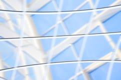 Geometrische blauwe abstracte achtergrond met driehoeken en lijnen Royalty-vrije Stock Afbeelding