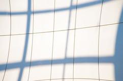 Geometrische blauwe abstracte achtergrond met driehoeken en lijnen Stock Fotografie