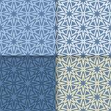 Geometrische blauwe achtergrond Abstract Naadloos Behang Gekleurde reeks Royalty-vrije Stock Foto