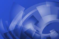 Geometrische blauwe achtergrond met booglijnen Royalty-vrije Stock Foto