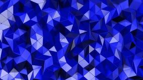 Geometrische blauwe achtergrond Mooi driehoekenpatroon die op een elegante en dynamische manier golven Levendige blauwe toon Het  stock video