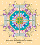 Geometrische bloem Stock Afbeeldingen