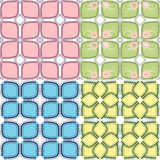 Geometrische bloemachtergrond Stock Foto