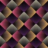 Geometrische Blumenblätter, Vector nahtloses Muster Lizenzfreie Stockfotografie