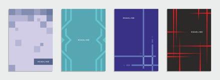 Geometrische brochure, vlieger, malplaatje, collectieve identiteit Stock Afbeelding