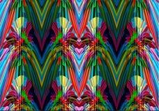 Geometrische bunte Muster und Verzierungen Lizenzfreies Stockbild