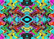 Geometrische bunte Muster und Verzierungen Bunte Threads oder Linien Lizenzfreies Stockbild