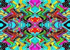 Geometrische bunte Muster und Verzierungen Bunte Threads oder Linien Stockfotografie