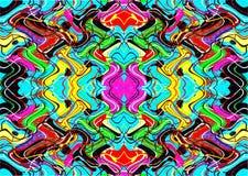 Geometrische bunte Muster und Verzierungen Bunte Threads oder Linien Lizenzfreie Stockfotografie