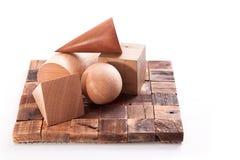 Geometrische cijfers van hout Royalty-vrije Stock Foto