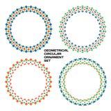 Geometrische cirkelornamentreeks royalty-vrije illustratie
