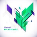 Geometrische 3D abstracte achtergrond Stock Foto's