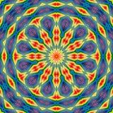 Geometrische de textuursamenvatting van de patroontegel Textieldecor stock illustratie