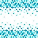 Geometrische de Winter Naadloze grens met driehoeken stock illustratie