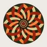 Geometrische decoratieve rozet Stock Foto's