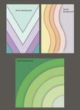 Geometrische document banners Stock Foto's