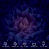 Geometrische Donkere Achtergrond Stock Foto's