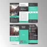 Geometrische dreifachgefaltete Geschäfts-Broschürenschablone Lizenzfreie Abbildung
