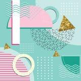 Geometrische Elemente Memphis Style Abstract Background Withs Lizenzfreies Stockfoto