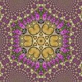 Geometrische en bloemenontwerpenmandala Stock Fotografie