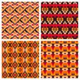 Geometrische etnische Azteekse Mexicaanse naadloze patronen Royalty-vrije Stock Foto