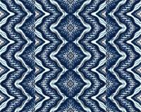 Geometrische Folkloreverzierung Stammes- ethnische Vektorbeschaffenheit Nahtloses gestreiftes Muster mit Seeoberteilen vektor abbildung