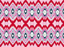 Geometrische Folkloreverzierung WebIkat Stammes- ethnische Vektorbeschaffenheit Nahtloses gestreiftes Muster in der aztekischen A stock abbildung