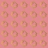 Geometrische Formen des adretten Musters des Ziegelsteinrotes goldenen nahtlosen drucken Hintergrund Lizenzfreie Stockfotografie