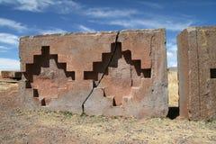 Geometrische gekletsmuur in Tempel Kalasyaya Royalty-vrije Stock Fotografie