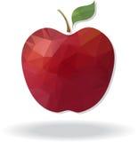 Geometrische geometrische Driehoeks veelhoekige rode appel Vector illustratie Stock Afbeeldingen