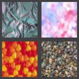 Geometrische geplaatste patronen Stock Afbeeldingen