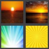 Geometrische geplaatste patronen Royalty-vrije Stock Afbeeldingen