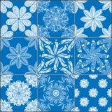Geometrische geplaatste tegels naadloze patronen Stock Foto's