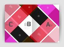 Geometrische Geschäftsschablone der Broschüre a4 Stockfotos