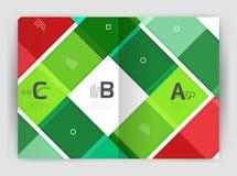 Geometrische Geschäftsschablone der Broschüre a4 Lizenzfreie Stockbilder